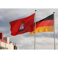 3550_2582 Hamburger Hafenflagge, blauer Anker; Deutsche Nationalflagge |